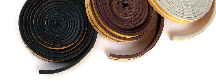 Rubber Draught Proofing Self Adhesive Seal For Door
